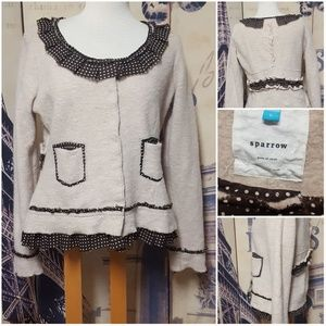 Anthropolgie Sparrow Au Fait Wool Ruffled Sweater